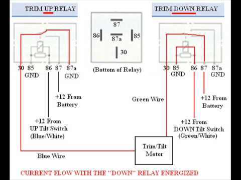 12v 14 pin relay wiring diagram troubleshooting  bypassing   amp     wiring    spdt tilt trim    relay     troubleshooting  bypassing   amp     wiring    spdt tilt trim    relay