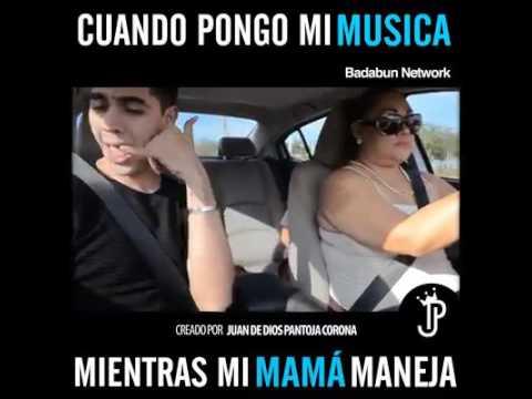 Cuando pongo mi musica mientras mi mama maneja