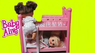BABY ALIVE Real Surprises Dolls Kara and Sophie sneak out of Bed Part 2