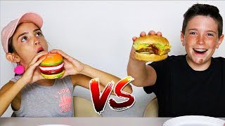 SQUISHY FOOD vs REAL FOOD CHALLENGE!!