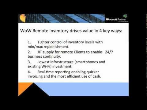 WMS Remote Inventory iPhone Android Windows 8 - Demo - WithoutWire (WoW) - Appolis