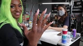 Cardi b nail artist Jenny Bui did my nails (vlog)