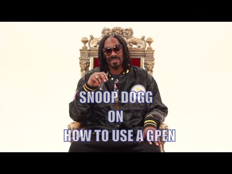 How To Use A G Pen - By Snoop Dogg - Smashpipe Style