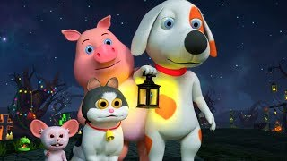It's Halloween Night   Halloween Videos for Children   Cartoons for Kids   Little Treehouse