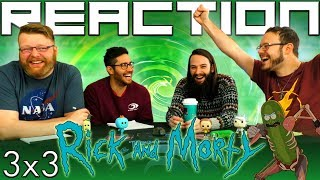 """Rick and Morty 3x3 REACTION!! """"Pickle Rick"""""""