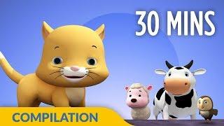 Old Macdonald   Animal Learning Songs   3D Nursery Rhymes for Kids  Hippy Hoppy Show I 30 Mins