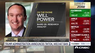 Baird analyst weighs in on Apple as President Donald Trump announces possible TikTok, WeChat ban