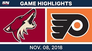 NHL Highlights | Coyotes vs. Flyers – Nov. 8, 2018