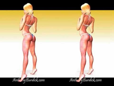 3D Blonde Bikini Girl Crossview Stereoscopic