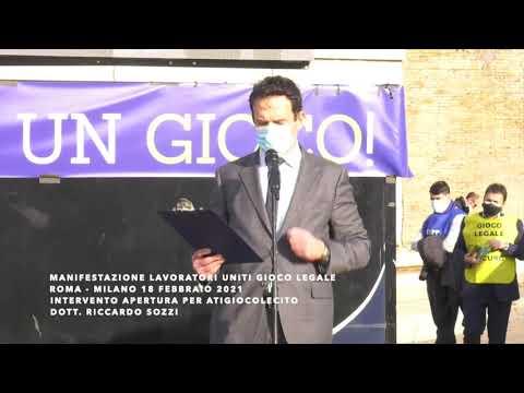 Riccardo Sozzi, portavoce Ati Gioco Lecito alla manifestazione di Roma