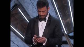 Jimmy Kimmel Tweets to President Trump   Oscars 2017