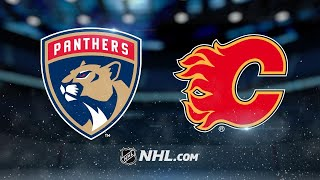Panthers top Flames in Luongo's return to the lineup