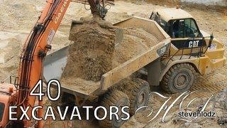 40 Máy đào xúc - Cần cẩu, xe tải, máy xúc, máy ủi, xe lu