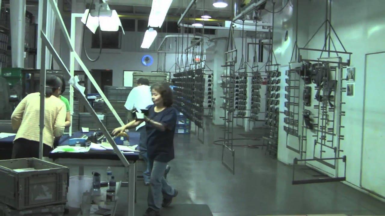 Grand Rapids Auto Parts >> Robotic Painting of Automotive Interior Parts - YouTube