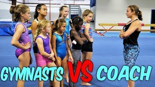 Gymnasts VS Coach Simon Says Gymnastics Challenge| Rachel Marie