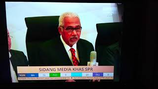 Official SPR/EC Parliament Seats announcement 2018. Malaysia Election Result 2018.
