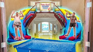 I BUILT A WATER PARK INSIDE MY HOUSE!!