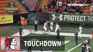 Kahuku vs. Saint Louis: T. Alapa, 5-yd TD pass from S. Maiava - HHSAA D1-Open Championship (2017)