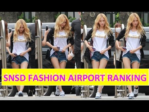 SNSD Airport Fashion Ranking 2015