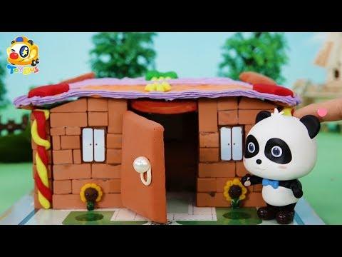 키키가 집을 지어요! 무서운 악어가 집을 공격해요! 토이버스 장난감이야기 Kids Toys   Baby Doll Play   ToyBus
