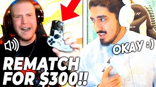 Streamer SMASHES controller after loss, then challenges me for $300. I ACCEPTED!