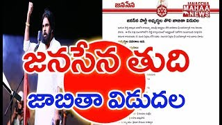 Janasena releases the final list of candidates for 2019 el..