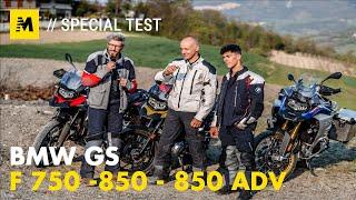 BMW F750, 850 GS e 850 ADVENTURE TEST: sfida in famiglia [English sub]