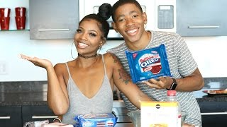 """COOKING WITH DK4L   HOW TO MAKE FRIED """"RED VELVET"""" OREOS"""