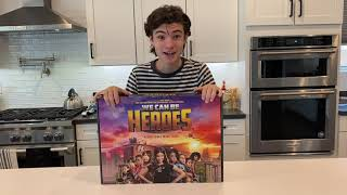 Making Waffles with my, We Can Be Heroes gift from Netflix.