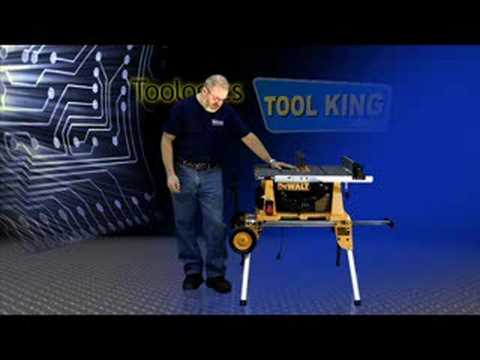 Dewalt Dw744xrs Table Saw With Rolling Stand Youtube