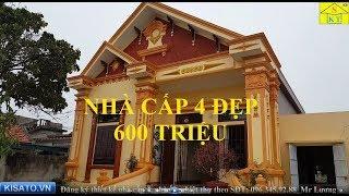 Mẫu nhà cấp 4 đẹp diện tích 9x14m đầy đủ công năng chỉ có 600 triệu tại Ninh Bình