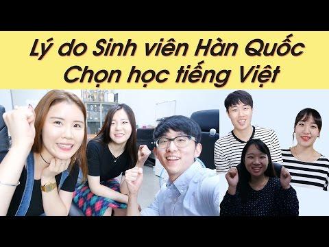 Lý do Sinh viên Hàn Quốc Chọn học tiếng Việt