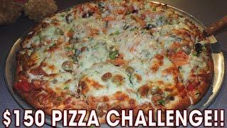 $150 BIG WICK 8LB PIZZA CHALLENGE!!