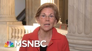 Senator Elizabeth Warren Reacts To President Donald Trump Calling Her 'Pocahontas' | MSNBC