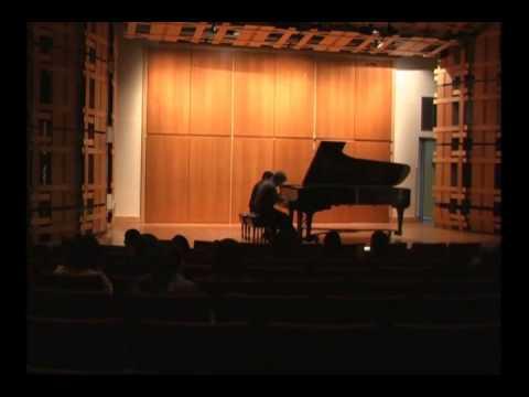 Playing the Brazilian composer Ernesto Nazareth, piece for piano four hands with Samuel Pontes.