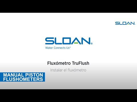 Sloan TruFlush Installation (Spanish)