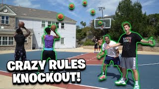 2Hype *CRAZY RULES* Knockout Basketball Challenge! - YouTube