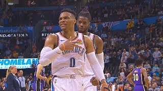 Russell Westbrook Emotional Game For Nipsey Hussle vs Lakers - 20 Points, 21 Assists, 20 Rebounds!