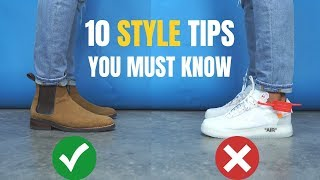 10 BEST Styling Tips EVERY Guy Needs To Know