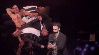 "The Finale | Tape Face Performing ""Lean on me"" HILARIOUS 