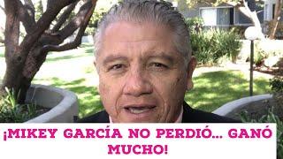 ¡Mikey García no perdió... gano mucho!