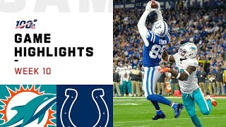 Dolphins vs. Colts Week 10 Highlights | NFL 2019