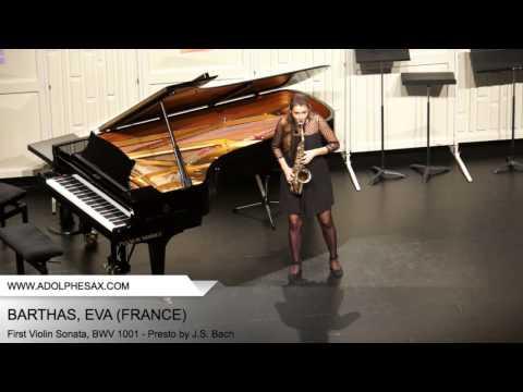 Dinant 2014 - BARTHAS Eva (First Violin Sonata, BWV 1001 - Presto by J.S. Bach)
