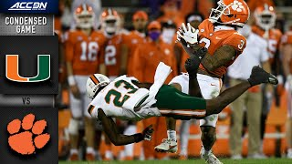 Miami vs. Clemson Condensed Game | 2020 ACC Football