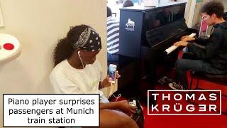 WOW! Amazing Piano Player surprises Passengers at Munich Central Station (Thomas Krüger)
