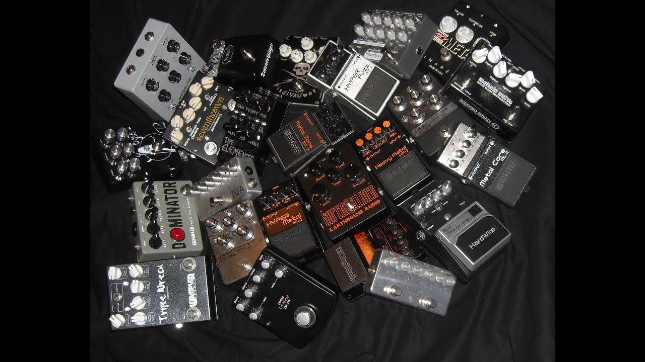 the ultimate high gain metal pedal guitar shootout part 1 heavy mids 24 pedals total. Black Bedroom Furniture Sets. Home Design Ideas