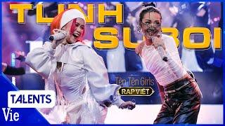 """SUBOI - TLINH cháy gắt đêm chung kết Rap Việt với """"TÈN TÈN GIRLS"""", Wowy thốt """"cháy bỏng tay"""""""