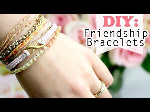 Diy 4 Ways How To Make Easy Friendship Bracelets Youtube