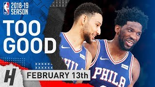 Joel Embiid & Ben Simmons Full Highlights 76ers vs Knicks 2019.02.13 - TOO GOOD!