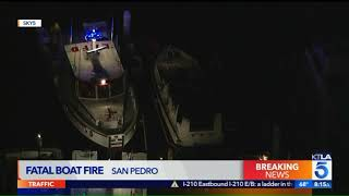 69-Year-Old Woman Found Dead in Boat Fire at Port of L.A.